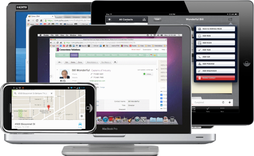 Access Zoho CRM from any device.
