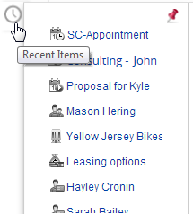 Zoho CRM Recent Items Icon