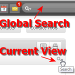 Select the appropriate Zoho Search icon